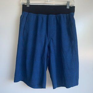 Lululemon CORE Linerless Blue Black Shorts ~Small